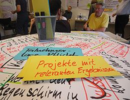 Moderationskarte in einer Veranstaltung moderiert von Jutta Weimar