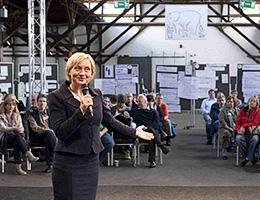 Jutta Weimar eröffnet den OpenSpace in Hamburg
