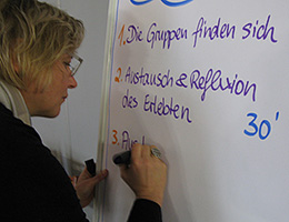 Jutta Weimar bei einem Open Space Training