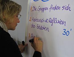Jutta Weimar bei einem Open Space Training